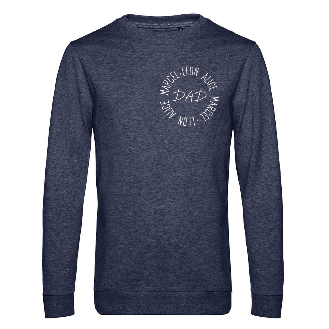Sweater - Dad - Cirkel met naam