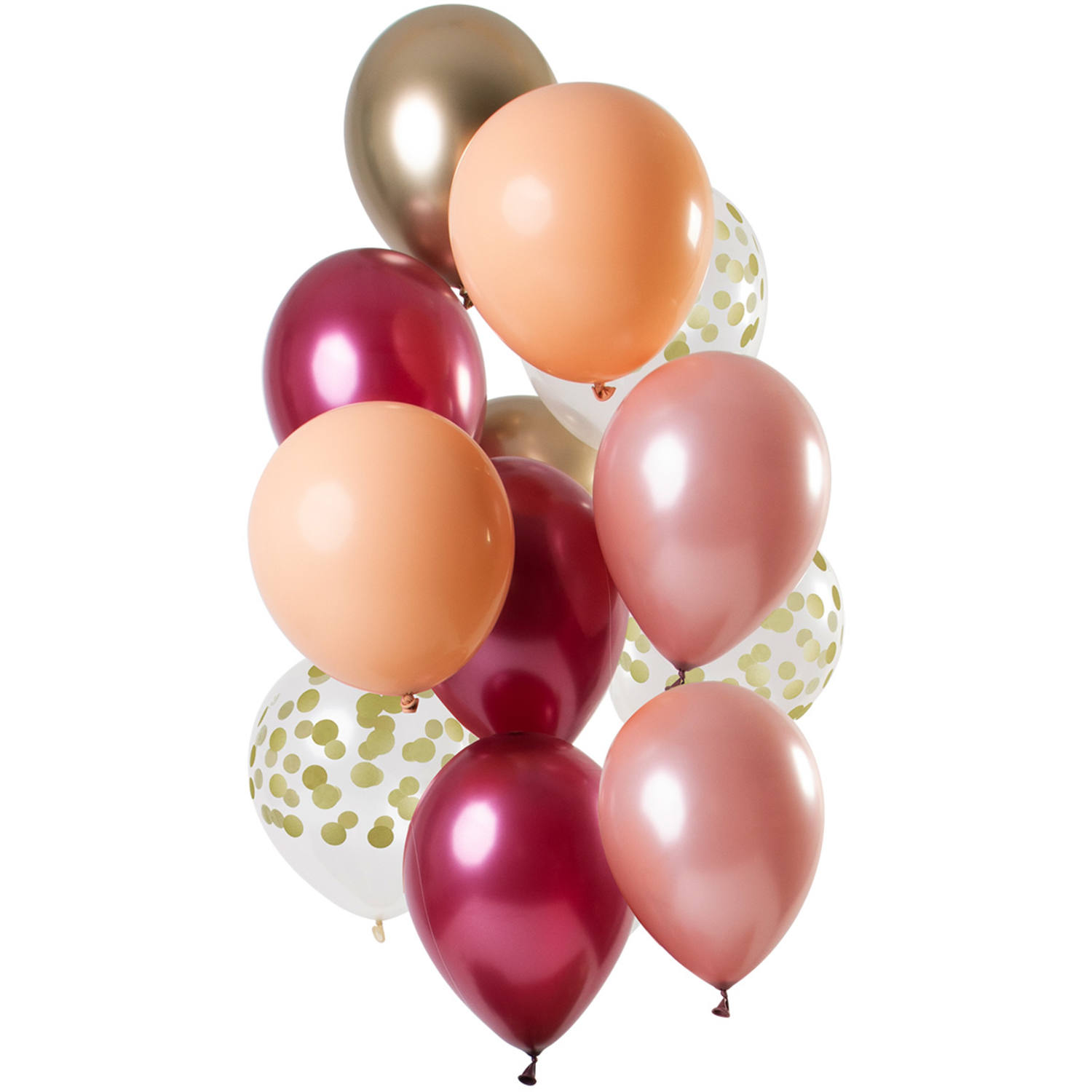 Set de 12 Ballons Rose - Or  - 30cm