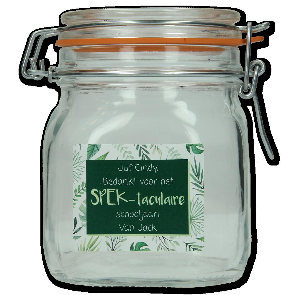 Spekpot 'Bedankt voor het SPEKtaculaire schooljaar' - Botanical