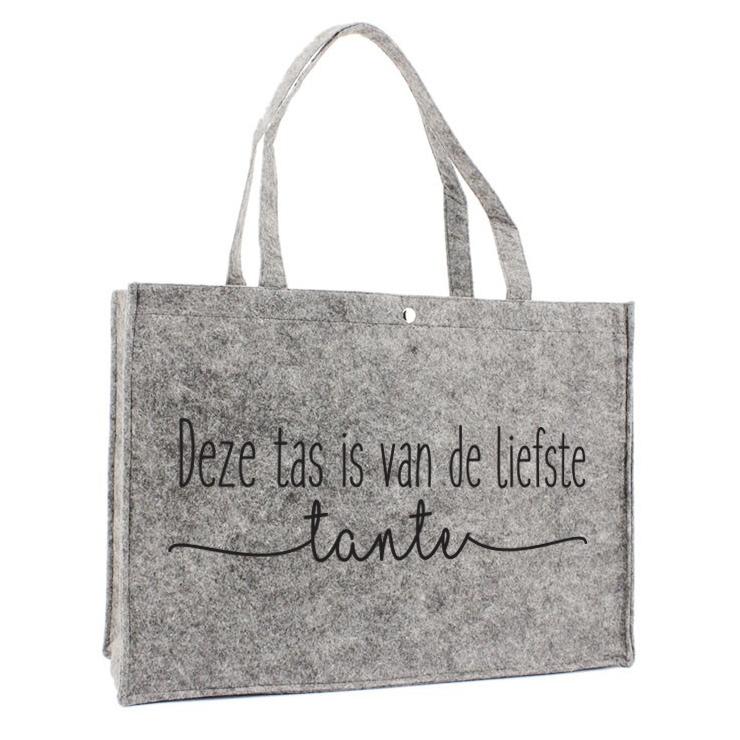 Vilten Tas - Deze tas is van de liefste tante