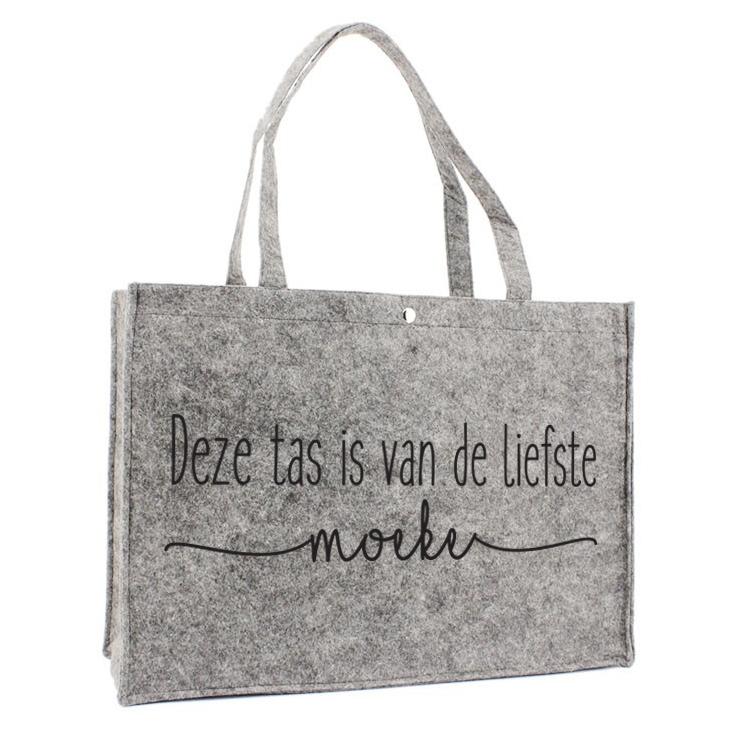 Vilten Tas - Deze tas is van de liefste moeke