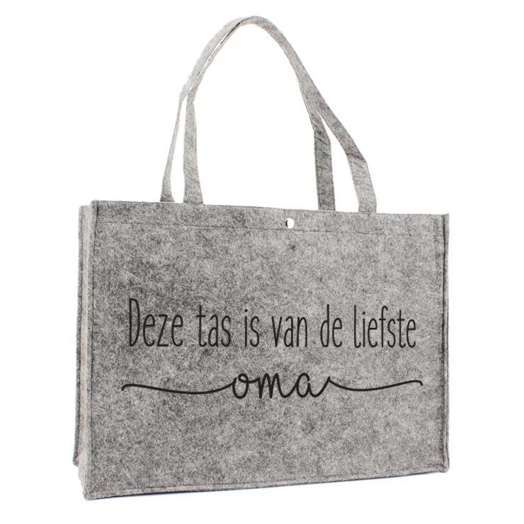 Vilten Tas - Deze tas is van de liefste oma