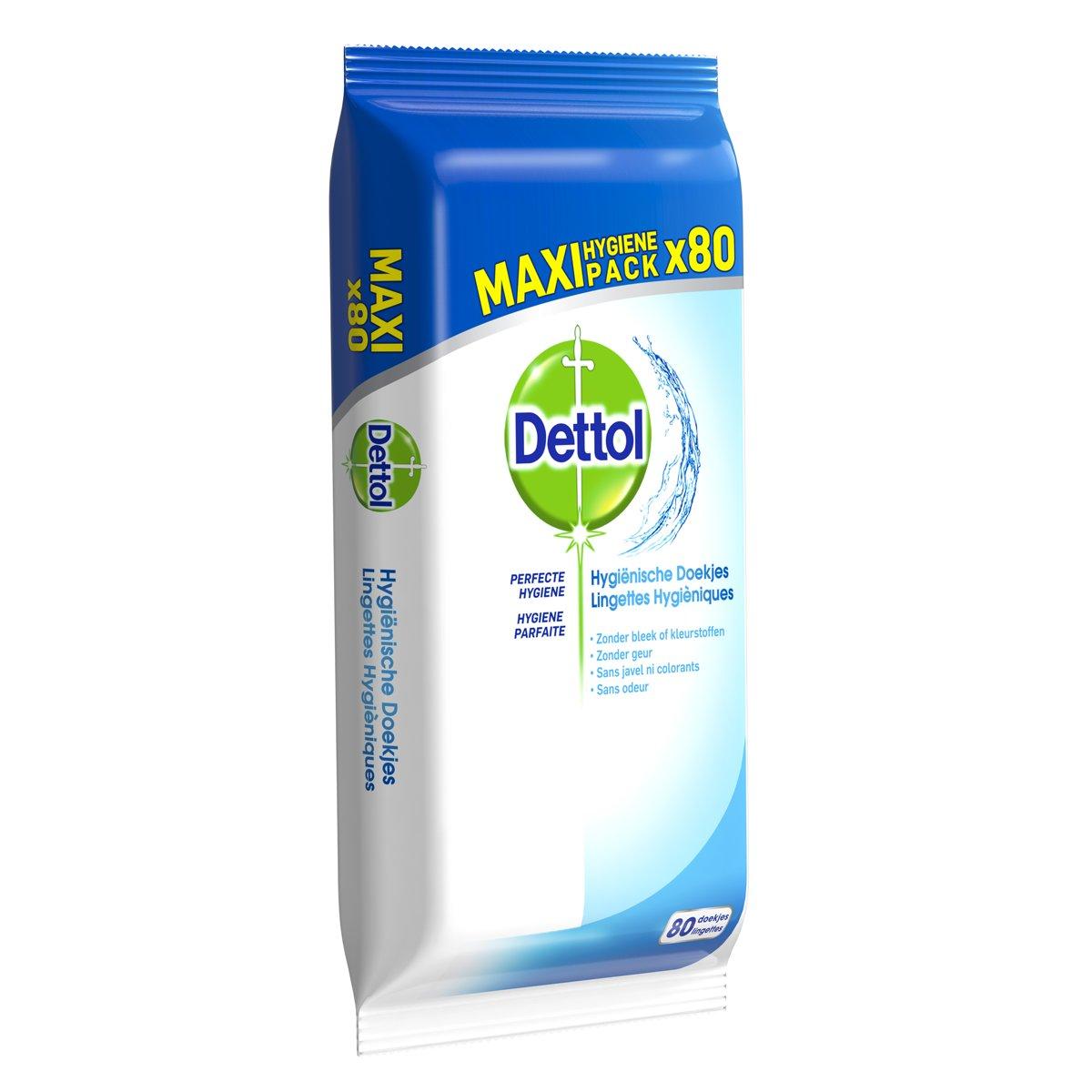 Dettol Hygiënische Reinigingsdoekjes - 1 x 80 stuks