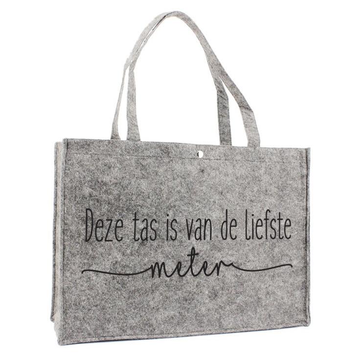 Vilten Tas - Deze tas is van de liefste meter