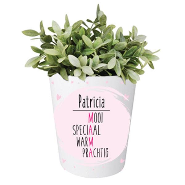 Moederdag bloempotje met naam - Mama Mooi