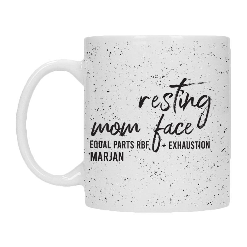 Mok met naam - Resting Mom Face
