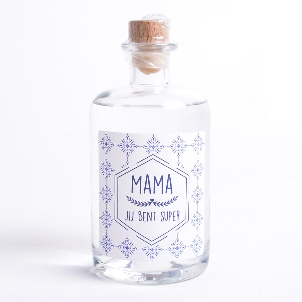 Moederdag Gin met eigen etiket en naam - Retro