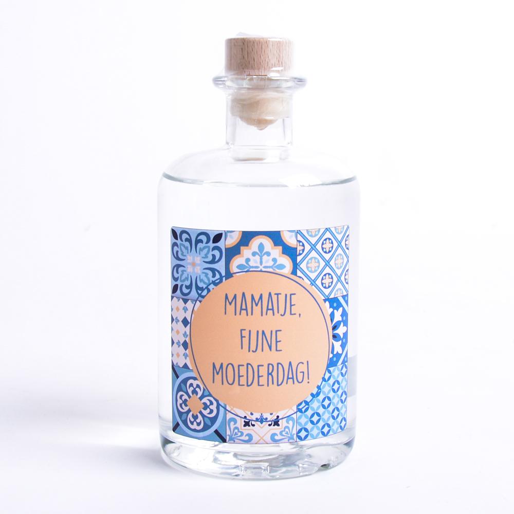 Moederdag Gin met eigen etiket en naam - Vintage