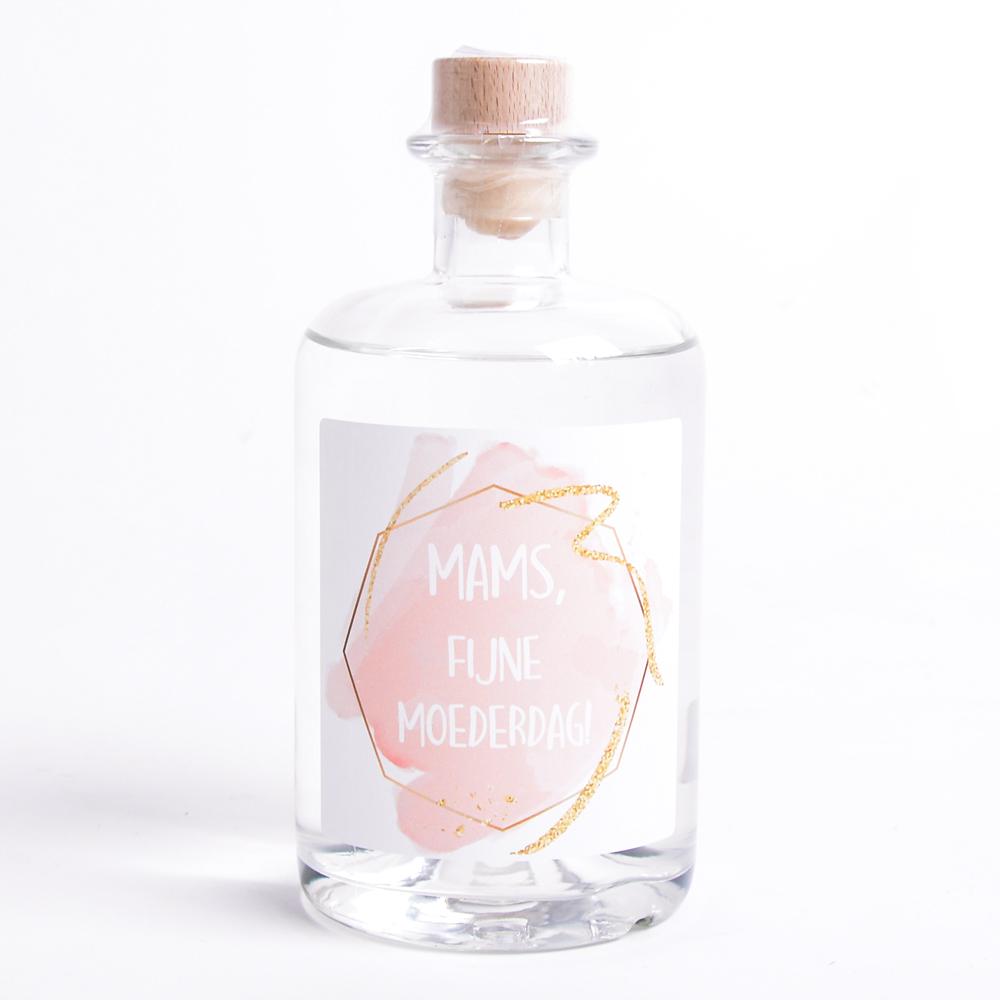 Moederdag Gin met eigen etiket en naam - Watercolor