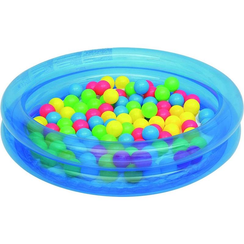 Bestway opblaasbad blauw met 50 ballen 91cm