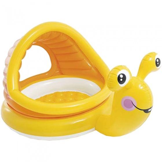 Intex  kinderzwembad met zonbescherming - Slak 145 x 102 cm