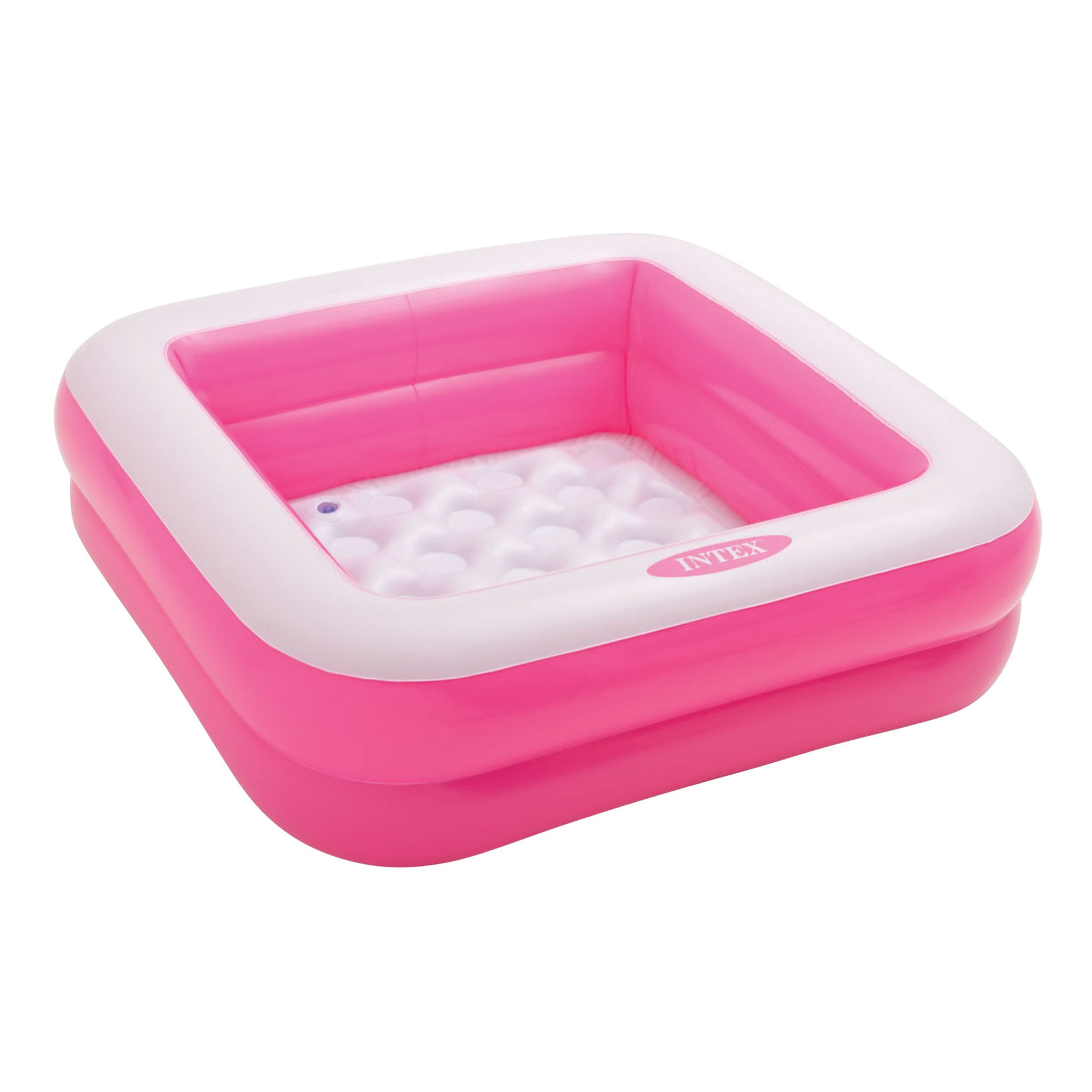 Intex opblaaszwembadje vierkant roze 85cm