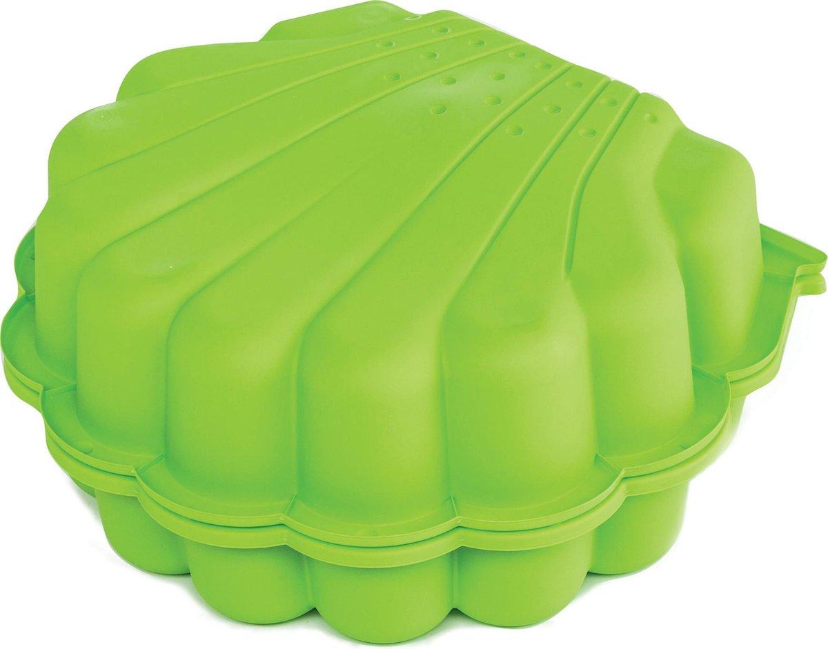 Paradisio Toys 2-delige schelp zandbak groen