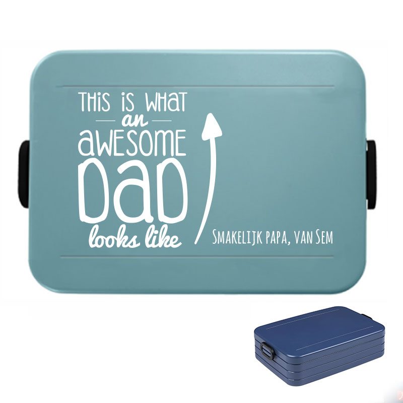 Papa lunchbox large met naam - This is what an awesome dad looks like