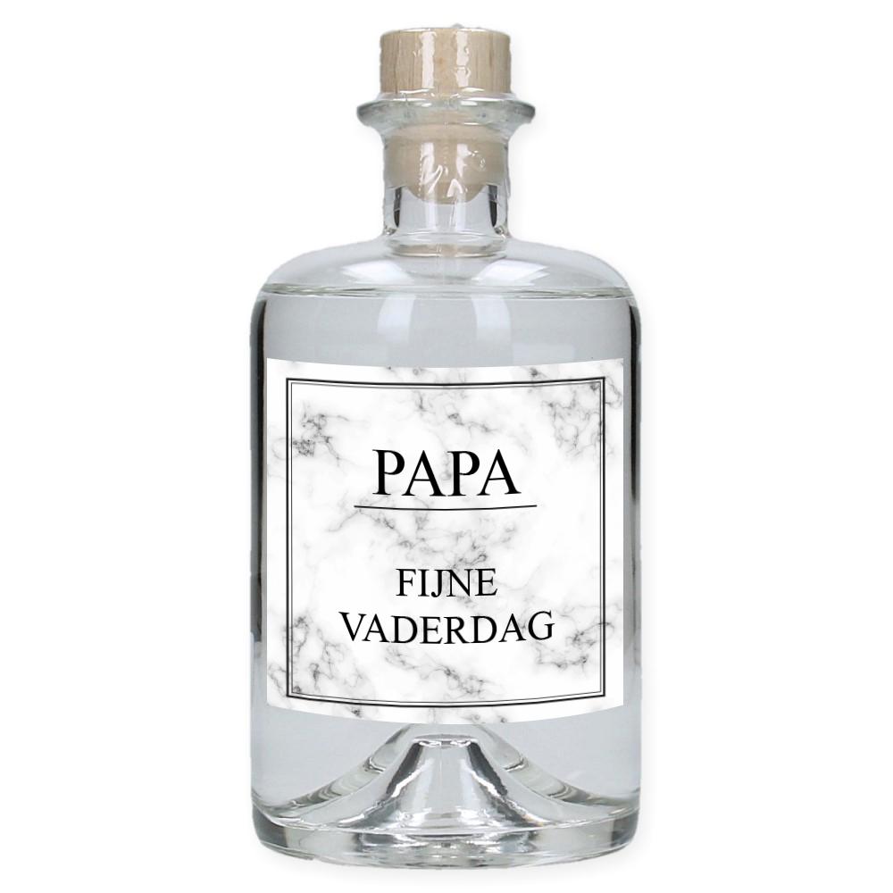 Vaderdag Gin met eigen etiket en naam - Marble