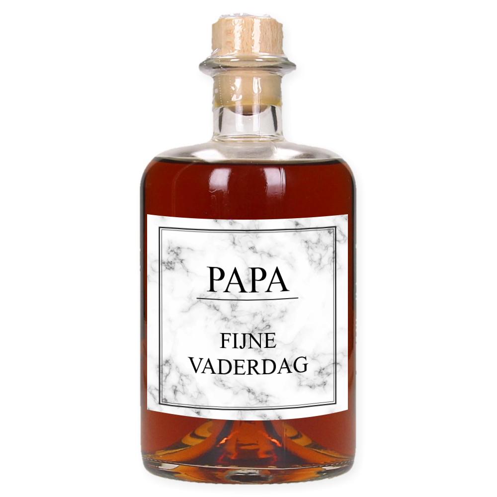 Vaderdag Rum met eigen etiket en naam - Marble