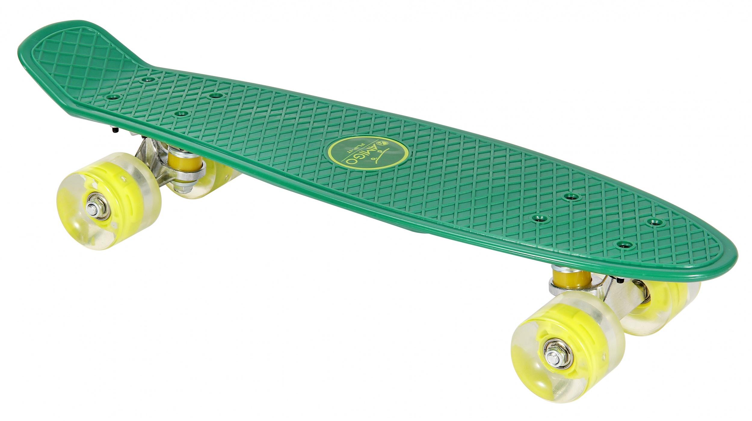 Skateboard met Led-verlichting groen - lime