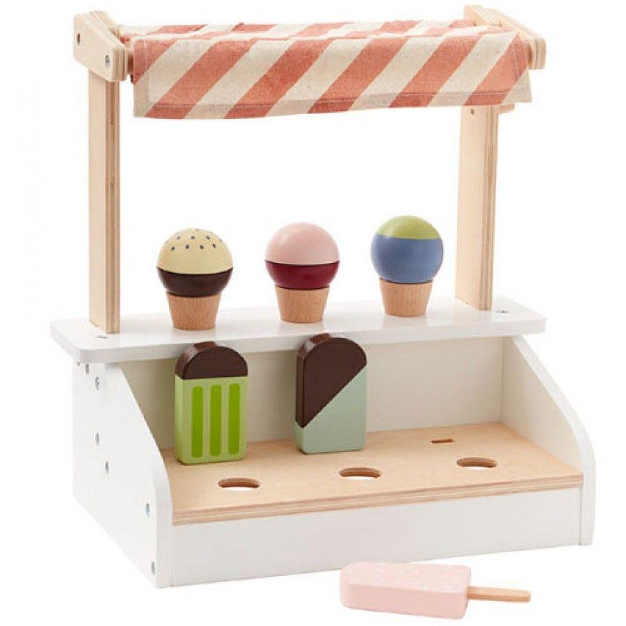 Kids Concept ijsjeskraam in hout