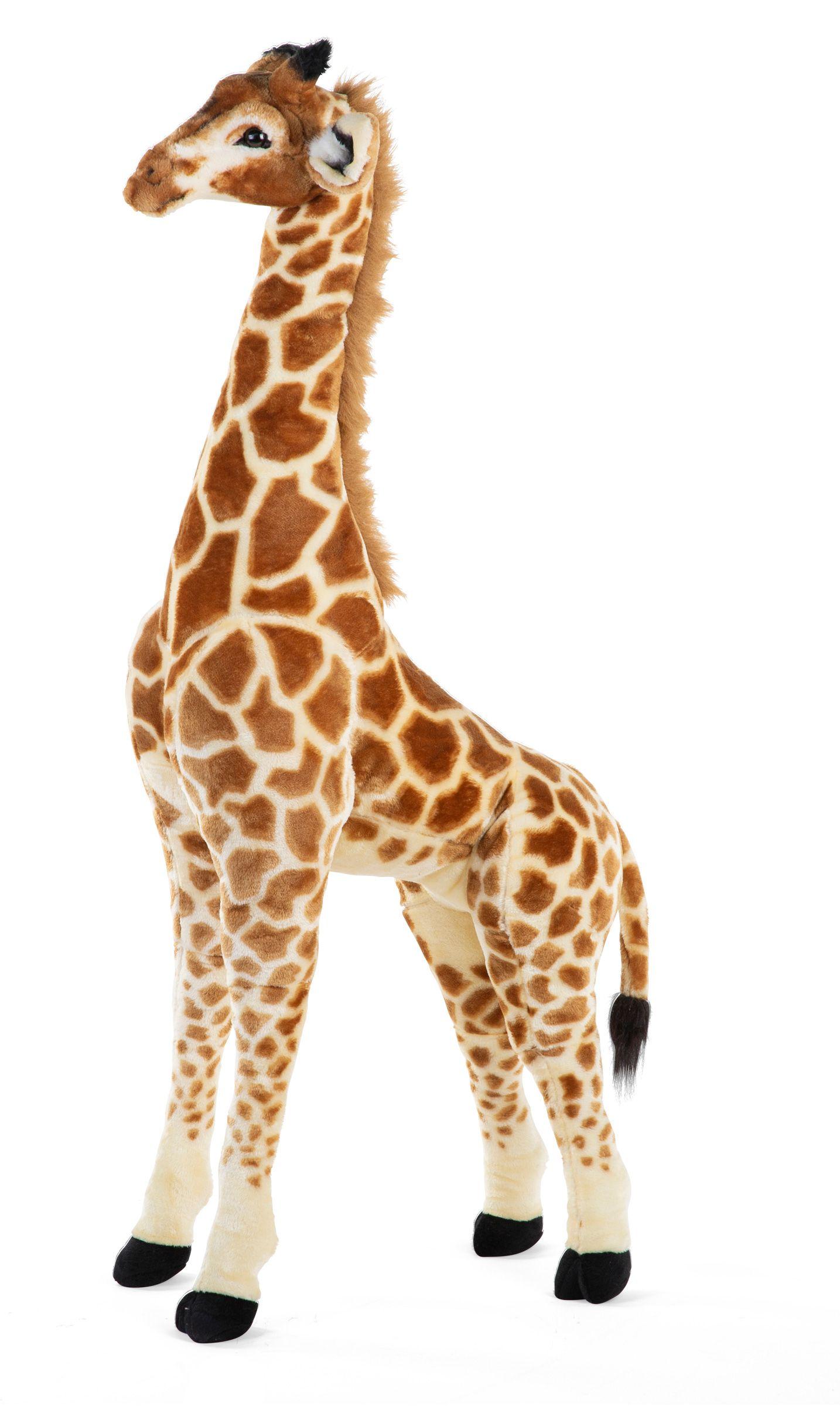 Chilhome staande giraf knuffel - 50X40X135 CM - BRUIN GEEL