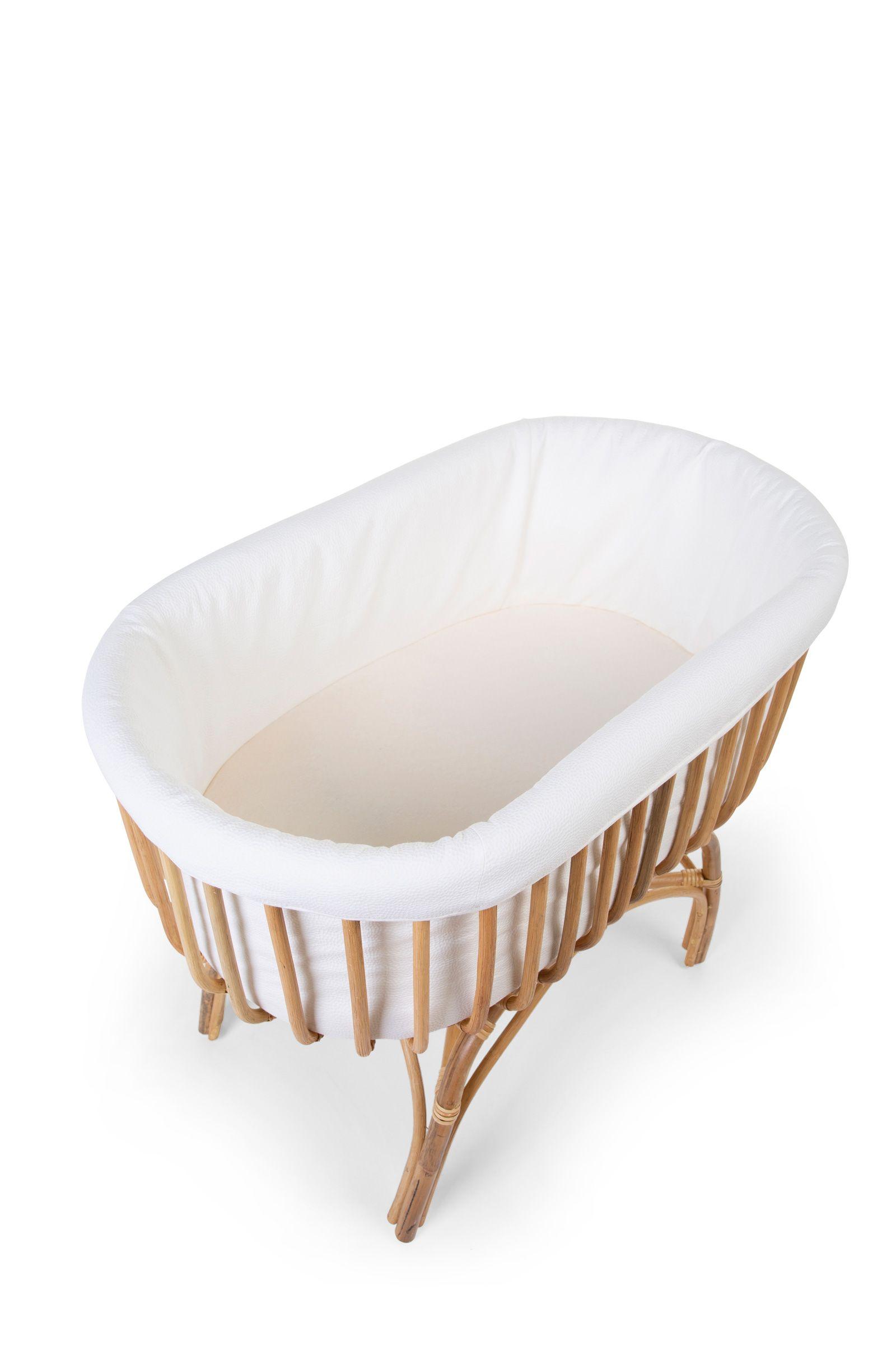 Childhome - Contour Pour Berceau Rotin - Jersey Off-white