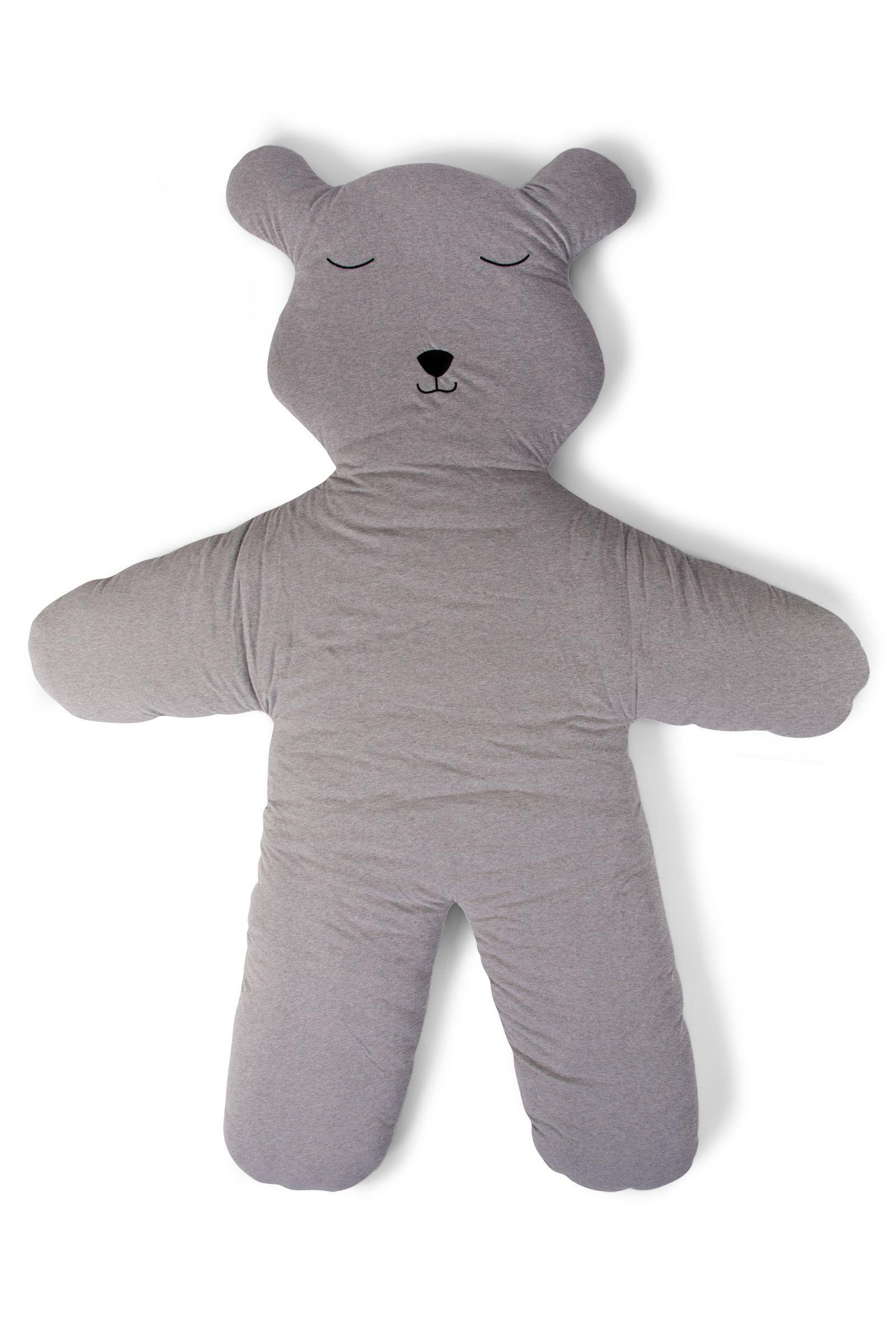 Childhome speelmat teddybeer - 150 CM - jersey - grijs