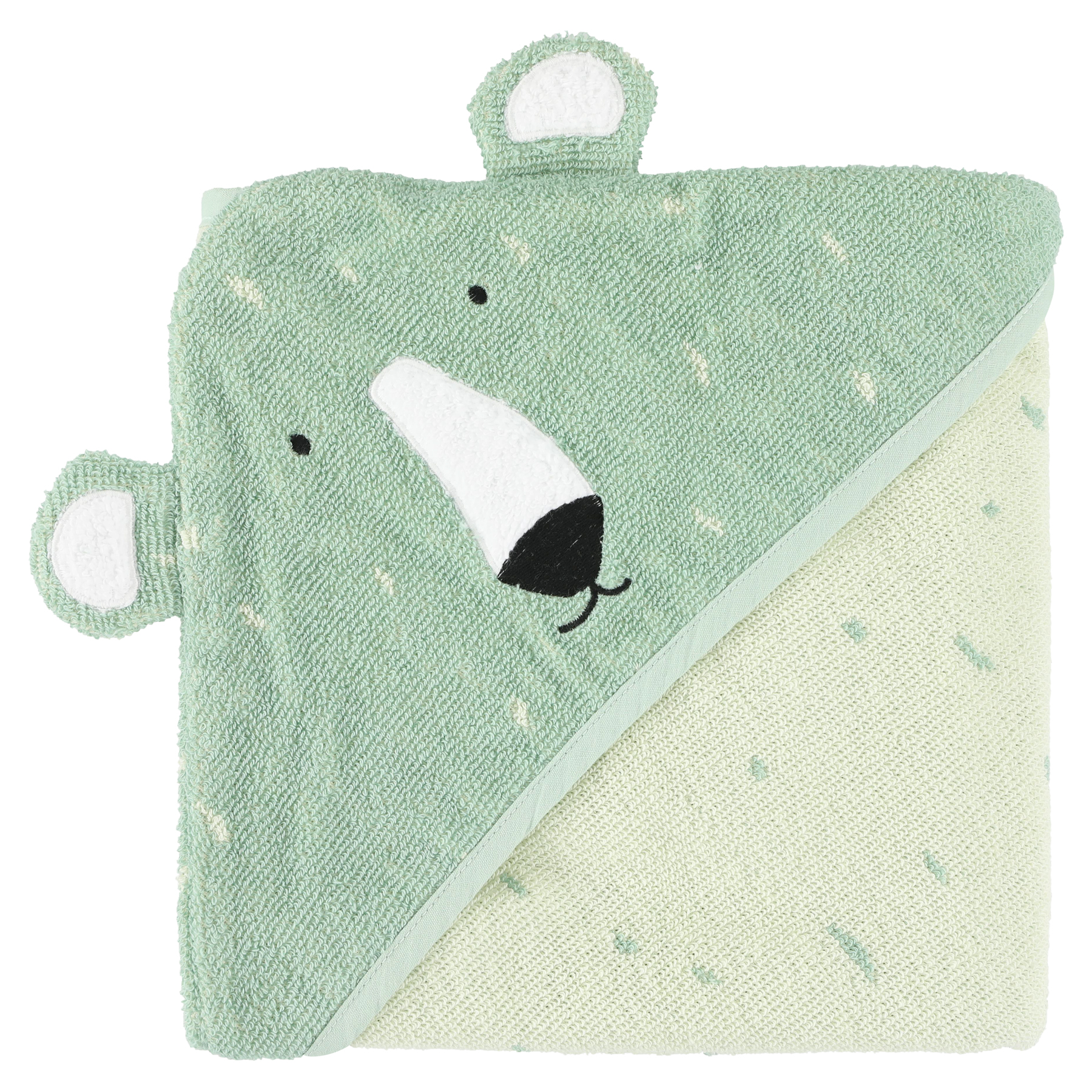 Trixie baby badcape Ijsbeer - Mr Polar Bear