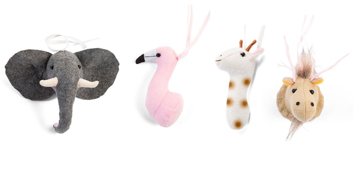 Childhome babygym dierenhoofden vilt - set van 4