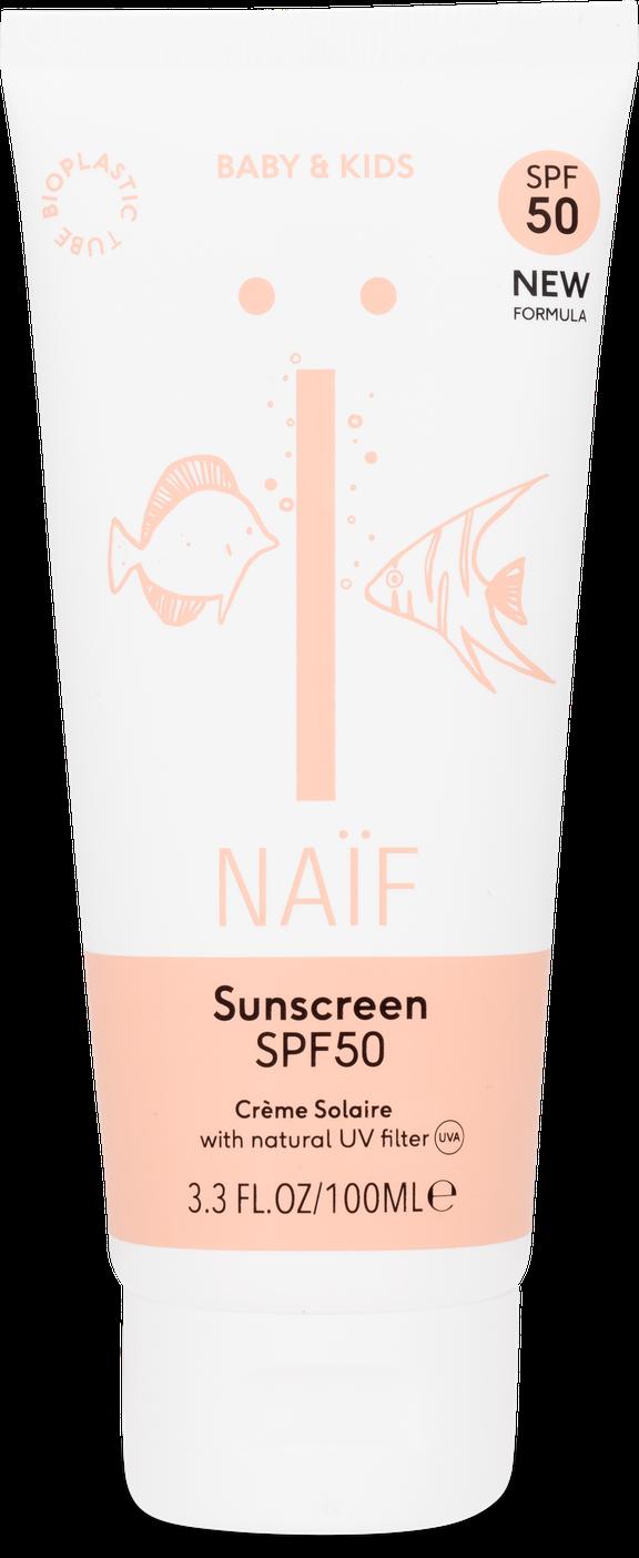 Naif Natuurlijke zonnebrandcrème Baby & Kind factor 50