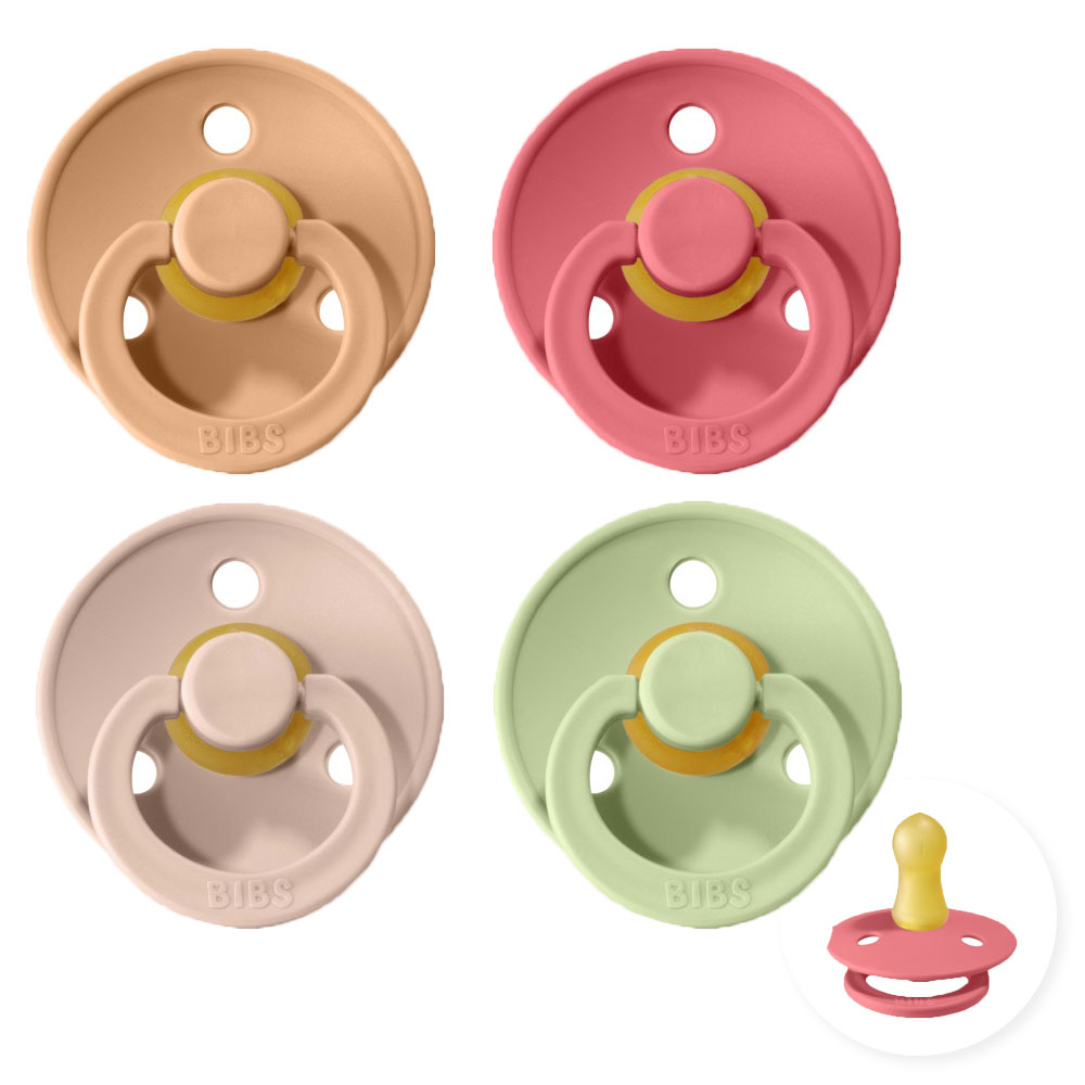 Bibs fopspeen - 4 stuks - 0-6 maand - Blush - Pistachio - Peach - Coral