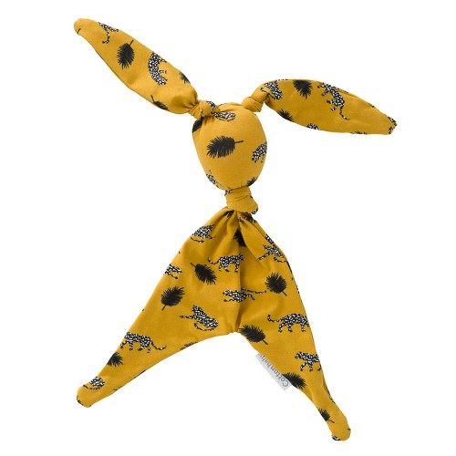 Cottonbaby doudou lapin jungle - ocre