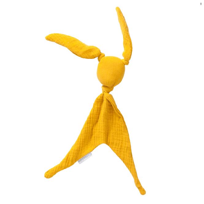 Cottonbaby Knuffeldoekje konijn hydrofiel  - geel
