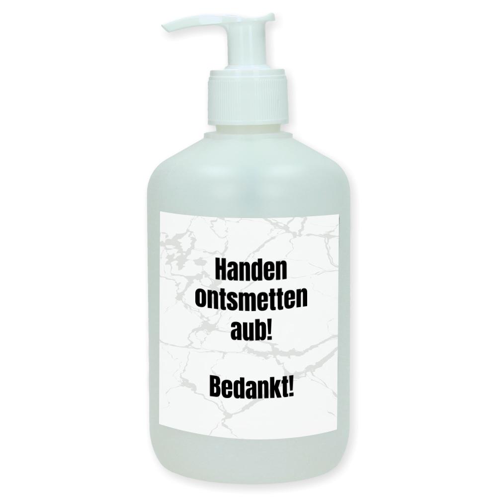Gepersonaliseerd pompje voor desinfecterende handgel