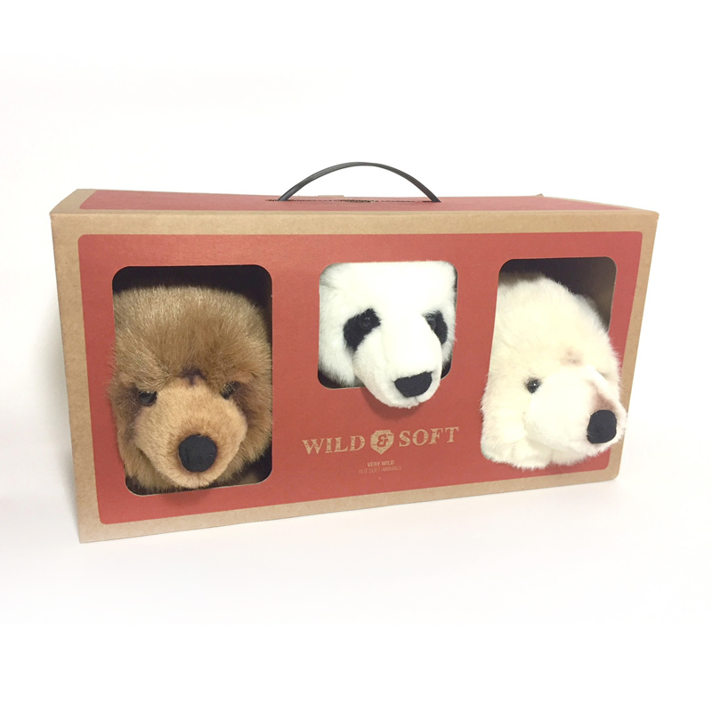 Giftbox Wild & Soft Jungle - Les ours Basile, Thomas en Oliver