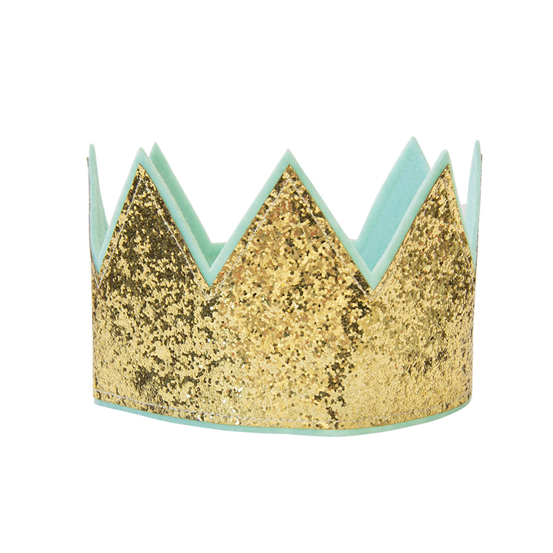 Kroon Glitter Goud - Meisje