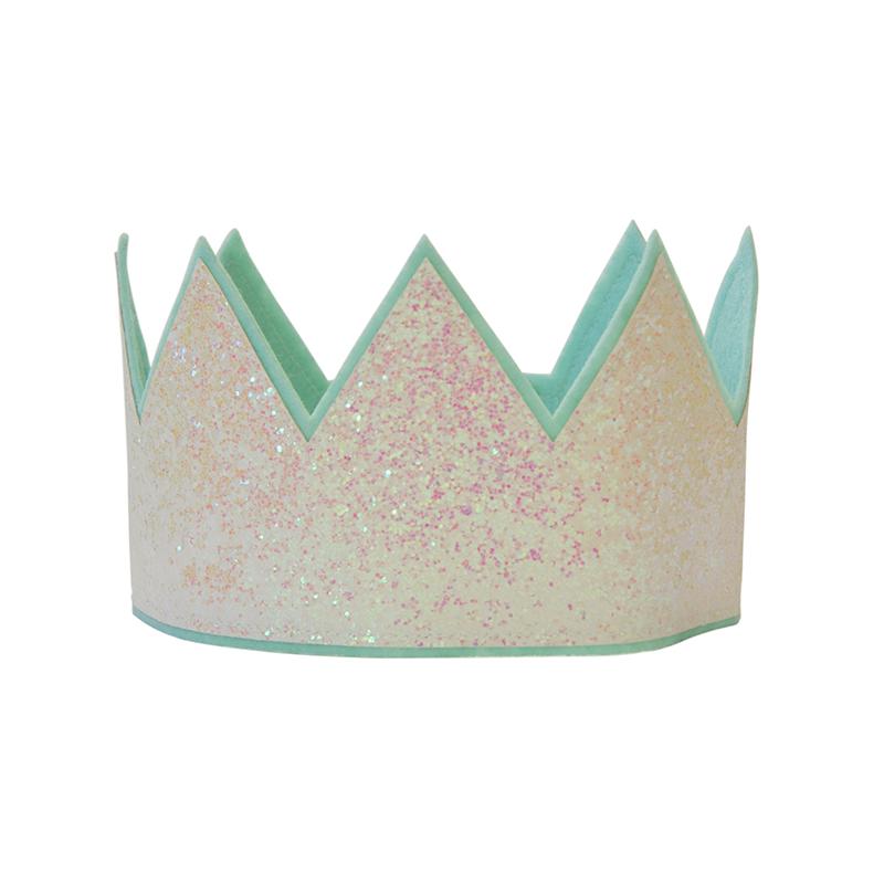 Kroon Glitter Wit - Meisje