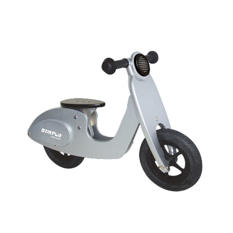 Simply For Kids - Houten Scooter Sparkling Silver