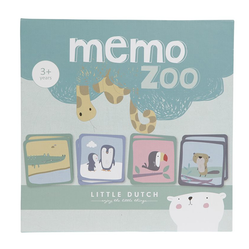 Little Dutch - Jeu de mémo - Dierentuin