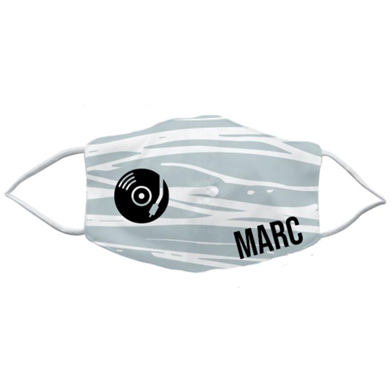 Mondmasker large met naam en afbeelding - 3D