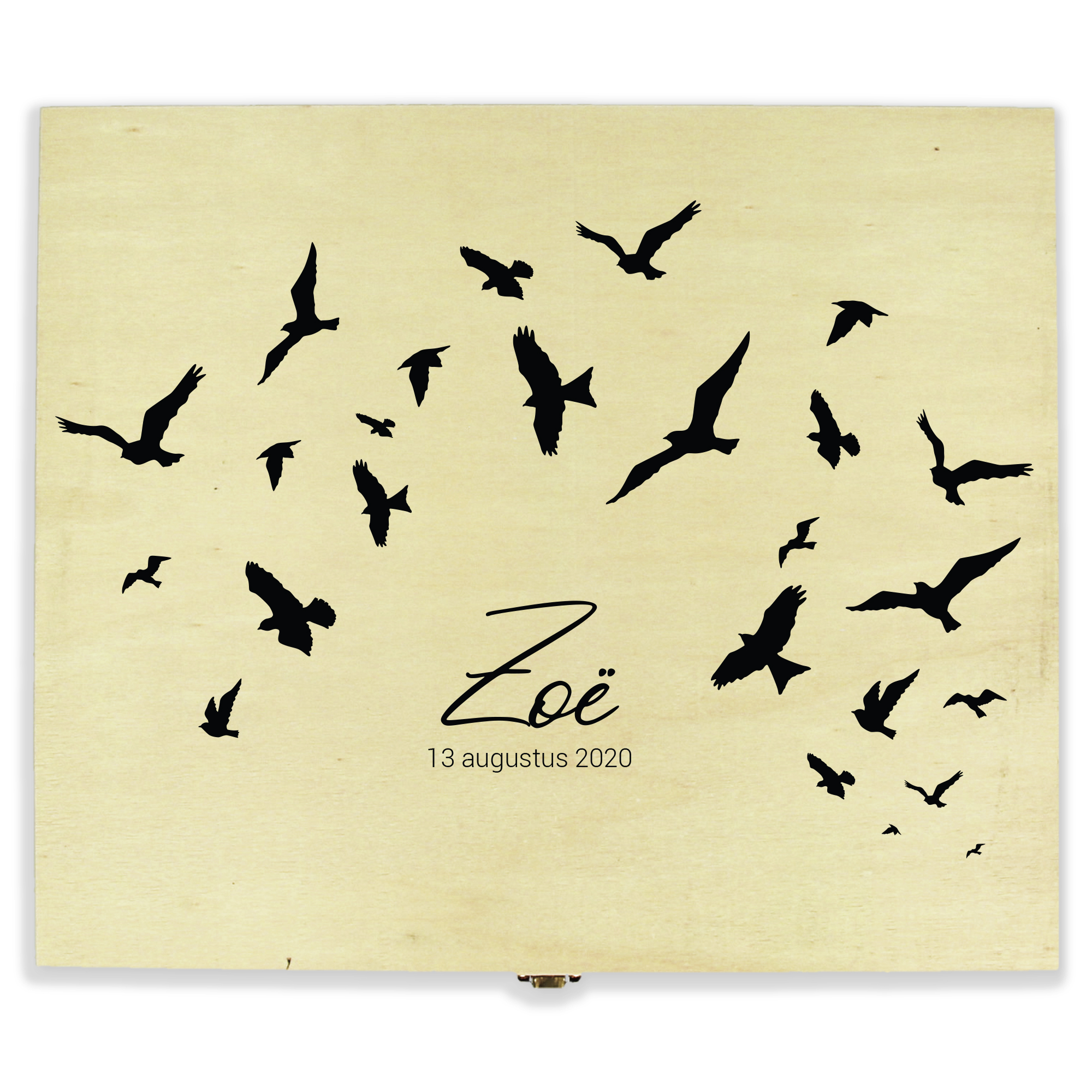Herinneringskist met naam - Birds