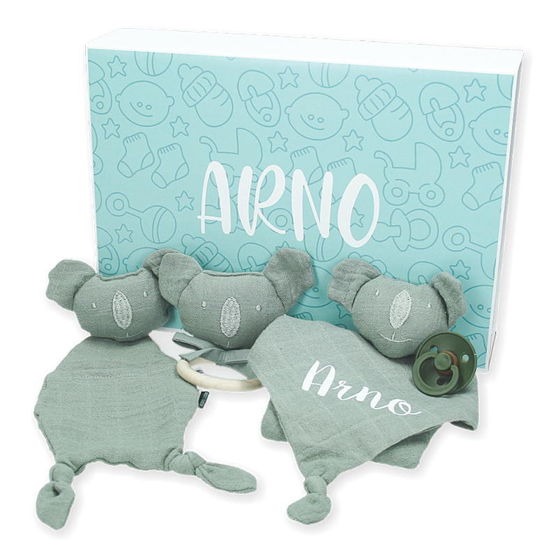 Coffret cadeau bébé personnalisé  - Les Rêves d'Anaïs - Bliss Olive