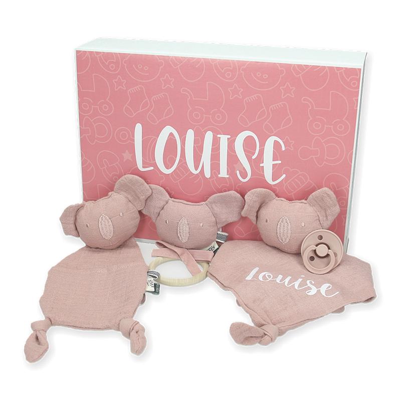 Coffret cadeau bébé personnalisé  - Les Rêves d'Anaïs - Bliss Rose