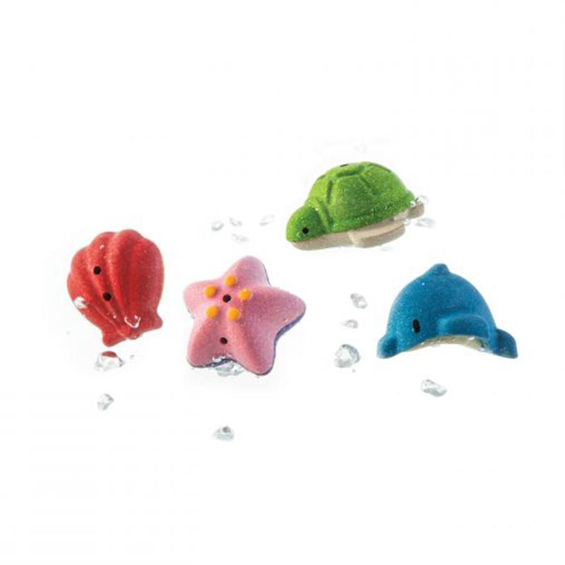 PlanToys - Zeewereld Houten Badspeelgoed