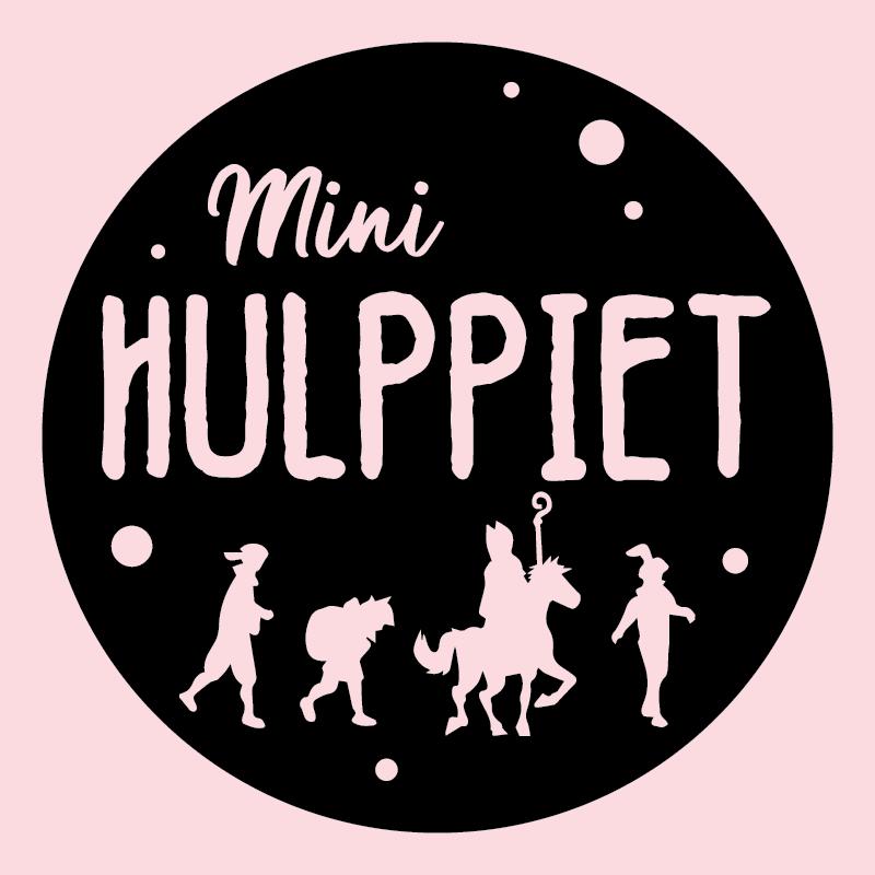 Sinterklaas design Mini Hulppiet (Rond)