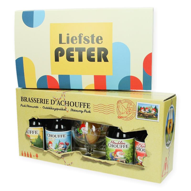 Gepersonaliseerde geschenkset La Chouffe met glas