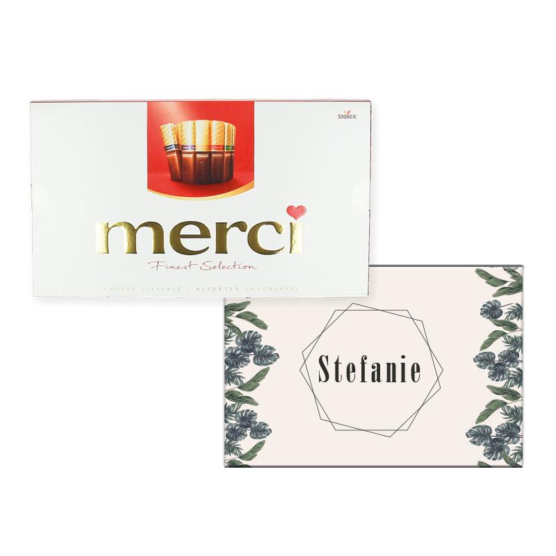 Gepersonaliseerd Merci chocolade assortiment 400 gr