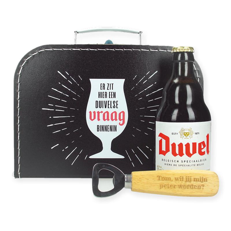 Bierpakket Duvel - Wil jij mijn peter worden?