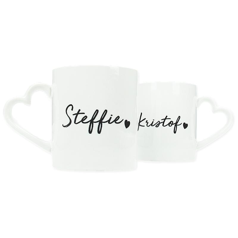 Ensemble de 2 mugs personnalisés - Minimaliste