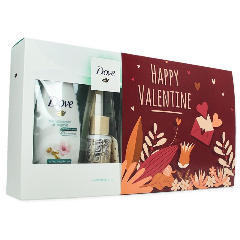Coffret cadeau personnalisé Dove Gel douche et lotion pour le corps Pistachio avec bâtonnets parfumés