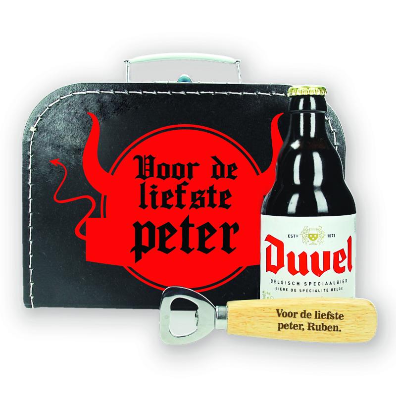 Bierpakket Duvel - Voor de liefste peter - ontwerp 2