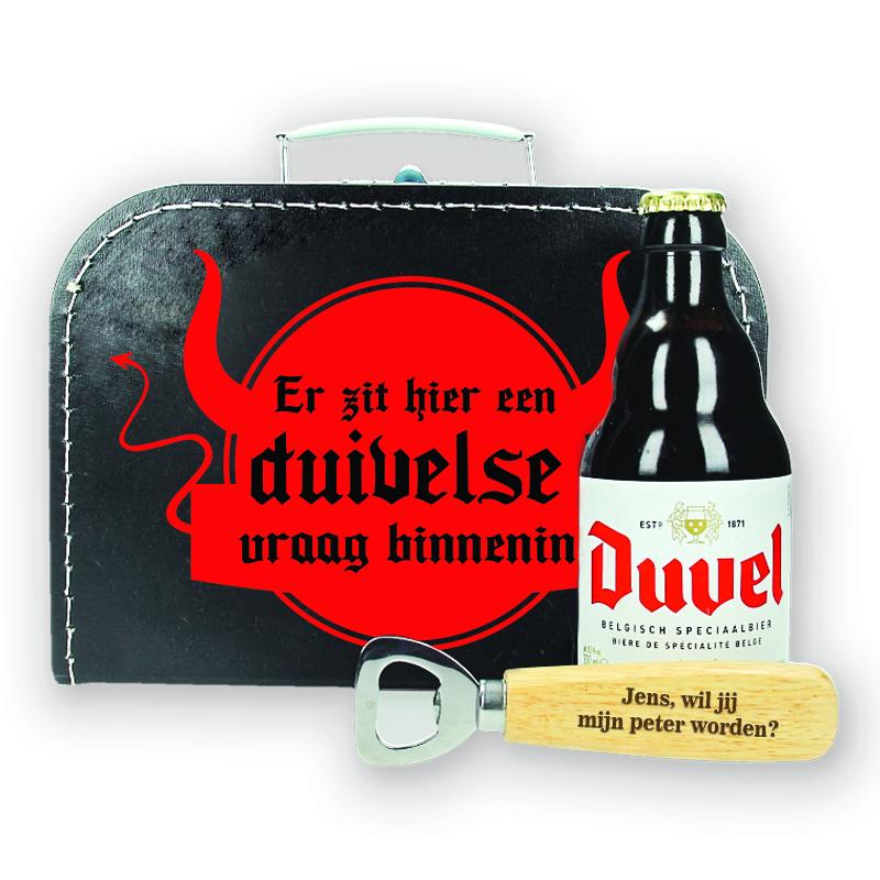 Bierpakket Duvel - Wil jij mijn peter worden? - ontwerp 2